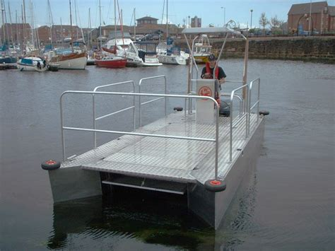 aluminum catamaran work boat river cleaning workboats trash skimmers waste dustcarts