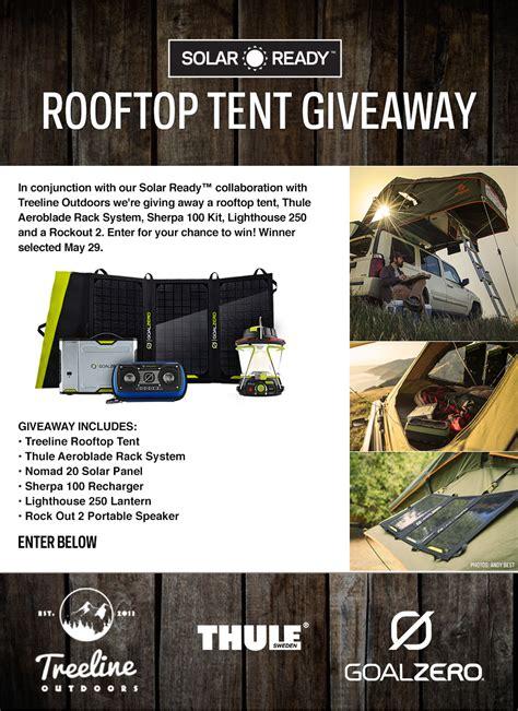 Goal Zero Giveaway - goal zero rooftop tent giveaway