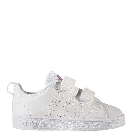 adidas infant girls  advantage clean shoes  white