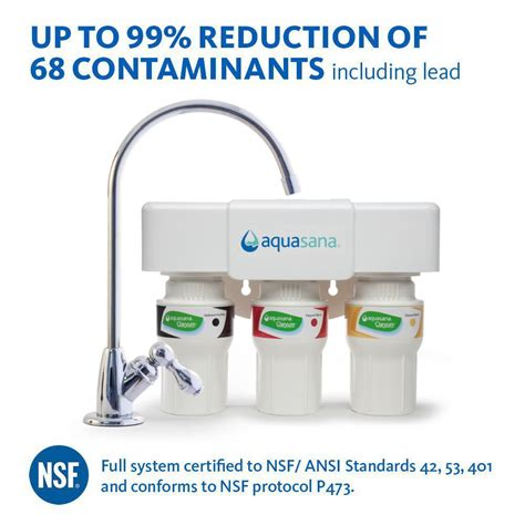 Aquasana Faucet Filter by Aquasana 3 Stage Counter Water Filtration System