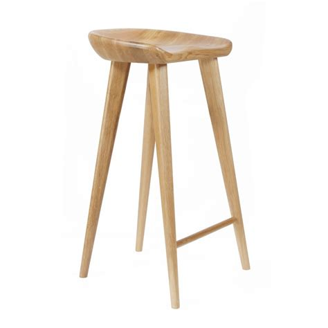 Wood Counter Stools by New Modern Carved Wood Barstool 29 Quot Bar