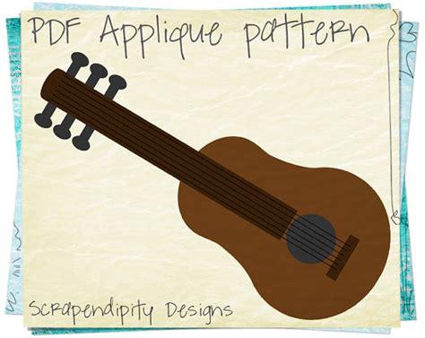 download pattern real guitar guitar applique pattern music applique by scrapendipitydesigns