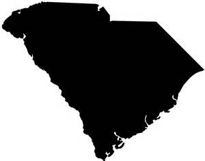 South Carolina Map Outline by South Carolina Map Silhouette Free Vector Silhouettes