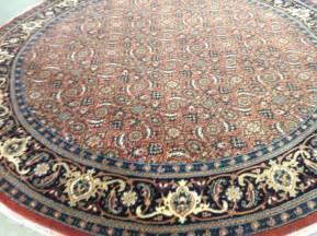 Sell Oriental Rugs 6 X 6 Round Rust Geometric Persian Oriental Area Rug Fine
