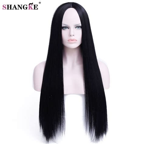 Hairstyles Wigs For Black by Shangke Hair 30 Inch Black Wig Hairstyles