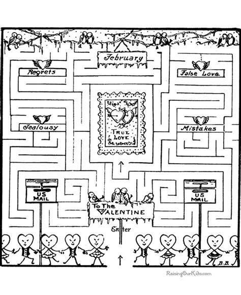 printable love maze kids love mazes great for group when processing with