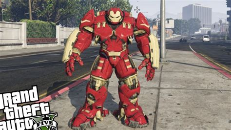 mod gta 5 hulkbuster gta 5 pc iron man mod hulkbuster armor vs zombie