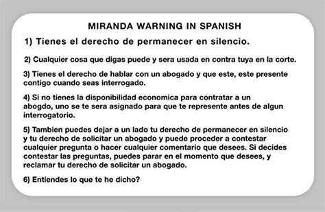 printable rights card the need for spanish miranda rights translations