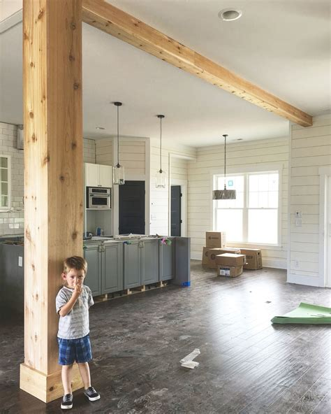 design home support support beam wrapped in cedar interior barn doors