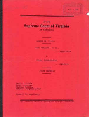 Va Court Records Virginia Supreme Court Records Volume 223 Virginia Supreme Court Records