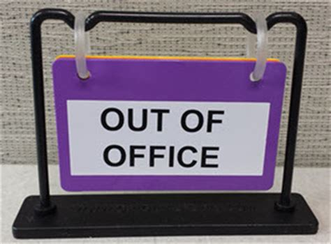 Out Of Office Sign by Flip It Will Communicate Your Work Status Effectively