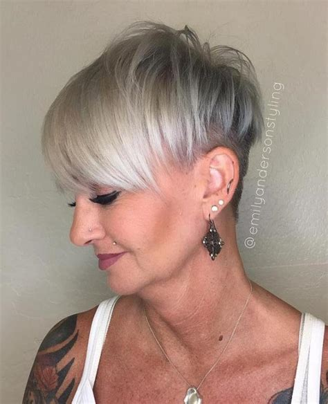 edgy short haircuts for 50 yearold women 60 gorgeous grey hair styles undercut natural