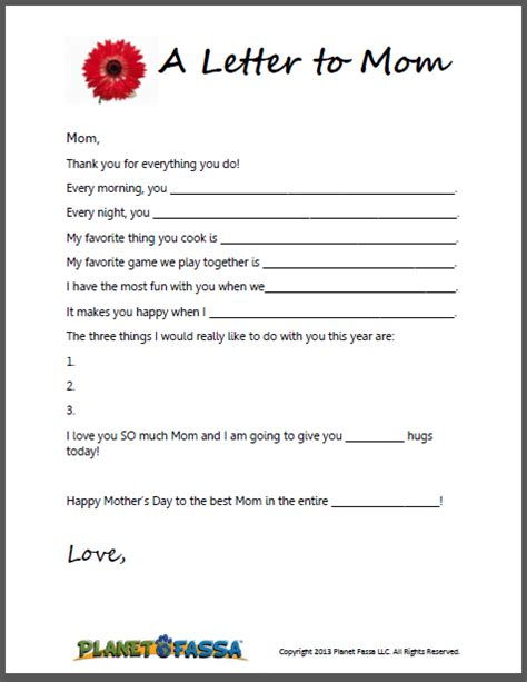 s day letter template a letter to printable template for to