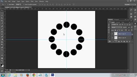 rotate pattern in photoshop how to rotate objects with in a circular form using