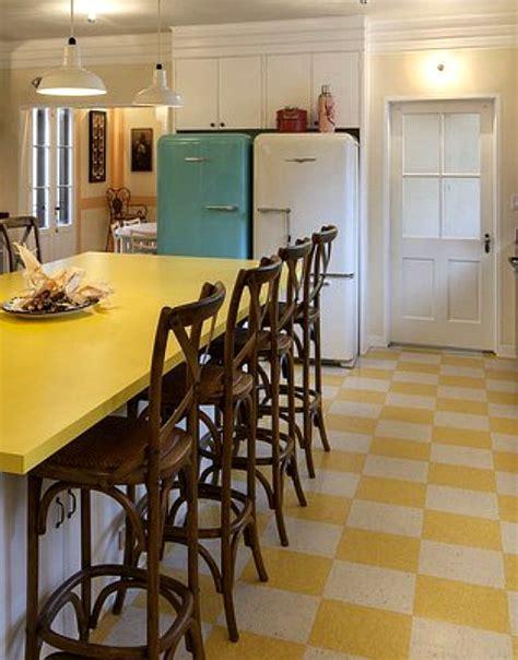 yellow kitchen floor i want a retro tile floor redbird