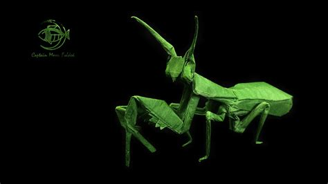 Origami Praying Mantis - 24 more amazingly realistic looking origami insects