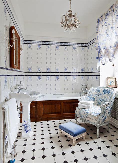 blue  white bathroom floor tile ideas  pictures