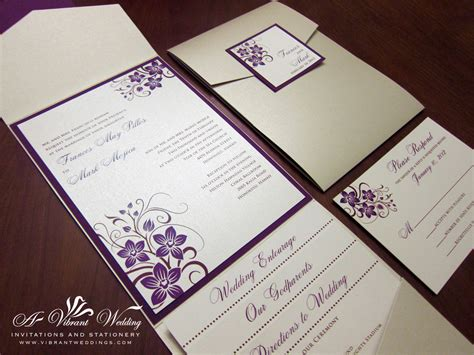 Wedding Invitations Purple by Purple Wedding Invitation A Vibrant Wedding Web