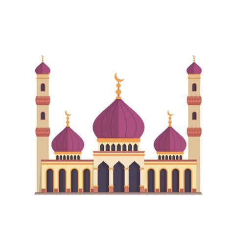 design masjid vector free download mosque design on white background vector free download