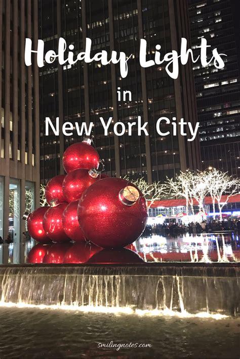 holidays lights   york city