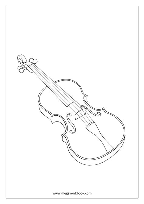 Coloring Page Instruments by Free Coloring Sheets Musical Instruments Megaworkbook