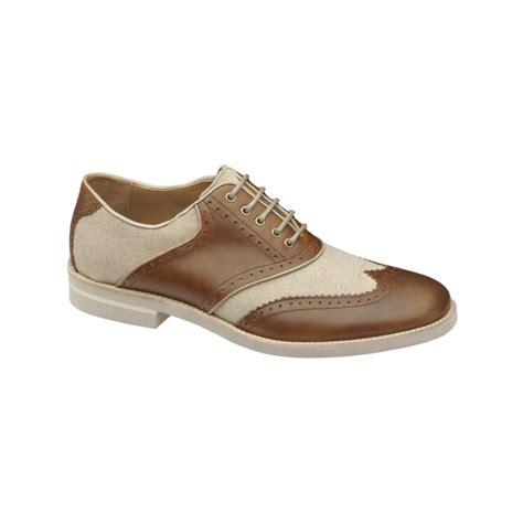 johnston murphy shoes lyst johnston murphy dolby wing tip saddle shoes in