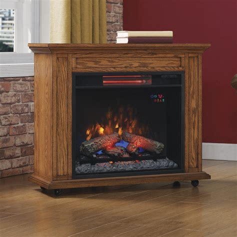 Duraflame Electric Fireplace Reviews by Duraflame Heater End Table Cherry Walmart