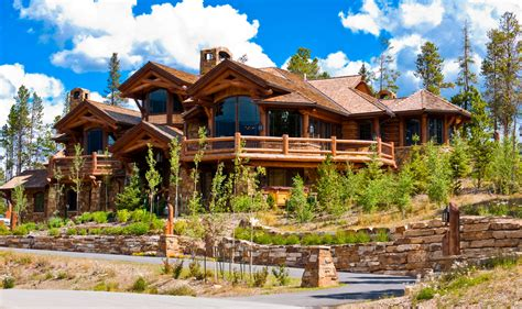 Log Home Mansions | 33 stunning log home designs photographs