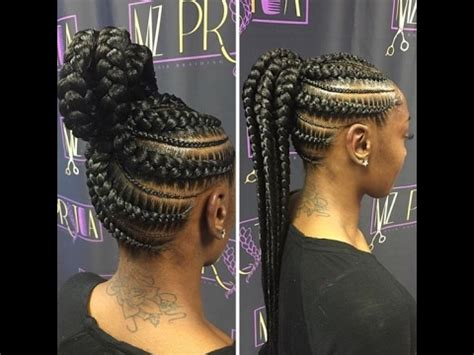 ghana braids ponytail : hottest trends for ghana braids