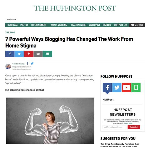 huffington post sections new huffington post blogger platform athena smart mom