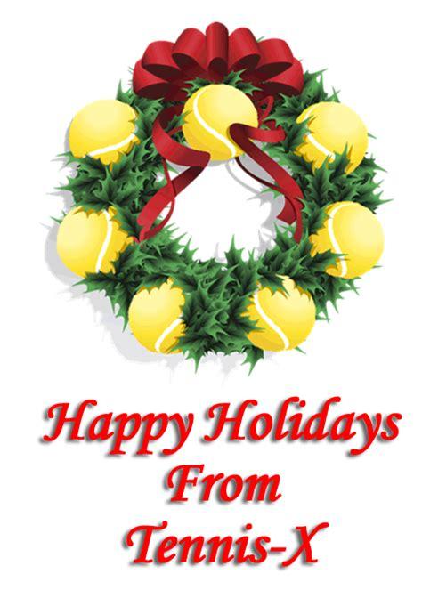 merry tennis  mas  happy holidays