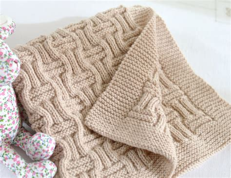 free beginner double basket weave face cloth knitting pattern knitting pattern baby blanket reversible by matildasmeadow