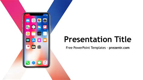 Iphone Presentation Template Free Iphone X Powerpoint Template Prezentr Ppt Templates