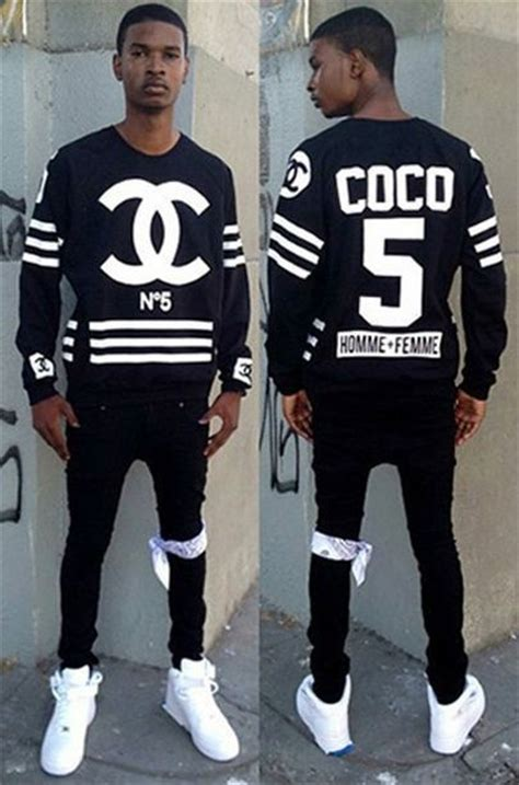 Dress Coco Hodie homme femme side zip crewneck sweater coco no 5 chanel hockey sweatshirt size l