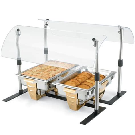buffet sneeze guard vollrath mb98722 60 quot portable sneeze guard buffet units zesco