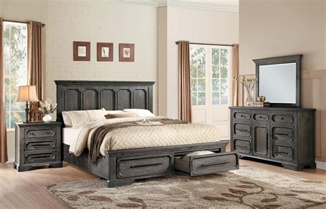bedroom sets for less homelegance toulon storage platform bedroom set rustic