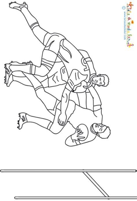 Coloriage Rugby 2015 Dessin De Foot A Colorier L