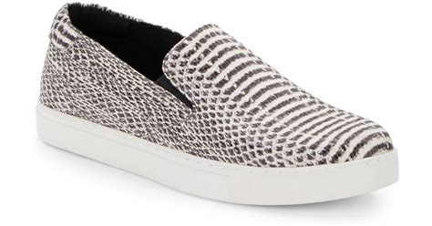 snake print slip on sneakers kenneth cole kit snake print slip on sneakers in black