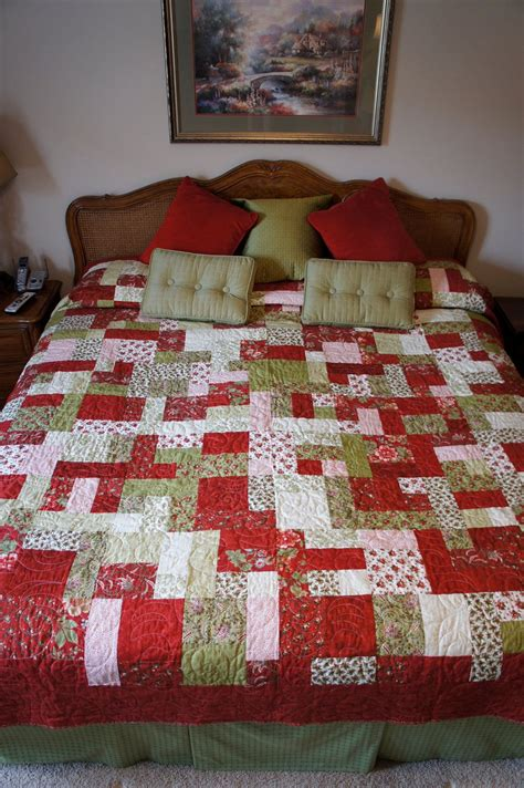 Handmade King Size Quilts - handmade quot yellow brick road quot pattern king size quilt 350