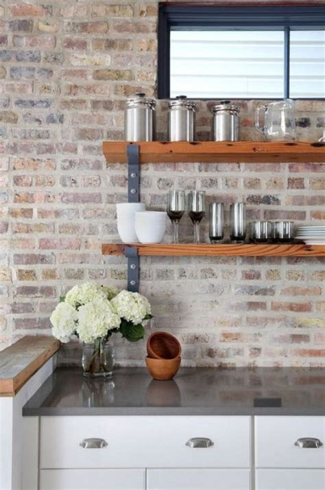 kitchen backsplash brick 25 timeless brick kitchen backsplashes comfydwelling