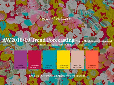 autumn winter 2017 2018 trend forecasting is a trend color judith ng aw2018 2019 trend forecasting