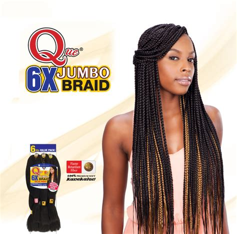 how many packs foe hair for jumbo braidse que king jumbo braid 6x freetress synthetic bulk mega
