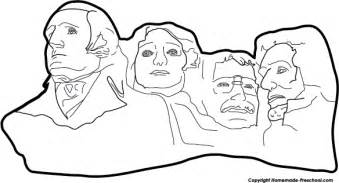 mt rushmore coloring pages for preschool coloring pages