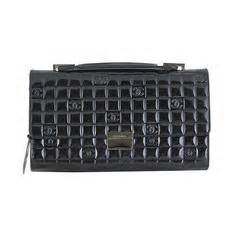 chanel black alligator oversized clutch with chain for sale at 1stdibs