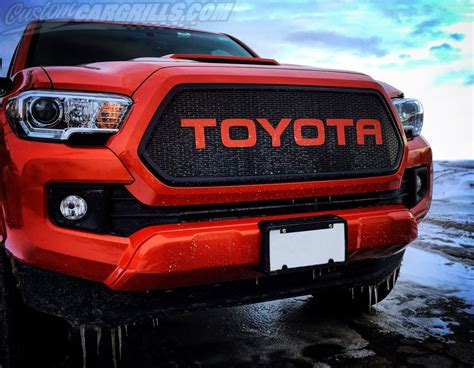 Toyota Tacoma Grill 2016 2017 Toyota Tacoma Mesh Grill Bezels By