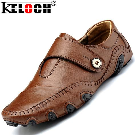 Fashion Casual Shoes cc brand fashion trend loafers slip on genuine leather