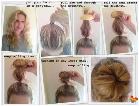 hairstyles using a bun donut hair donut how to how to use a hair donut every girl
