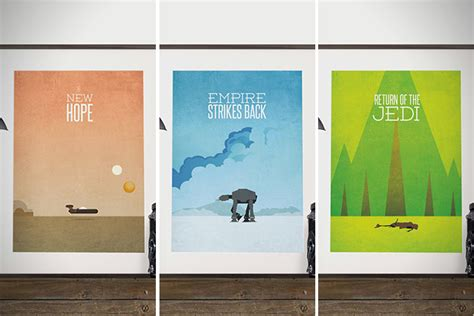 minimalist wars poster 50 greatest wars gifts in the galaxy hiconsumption