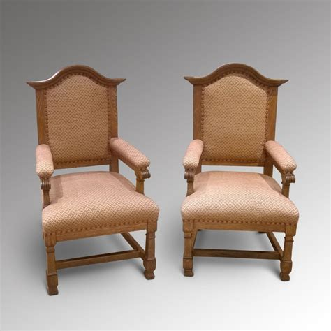 antique armchairs pair of french oak armchairs 265348 sellingantiques co uk