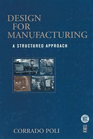 design for manufacturing poli design for manufacturing a structured approach corrado
